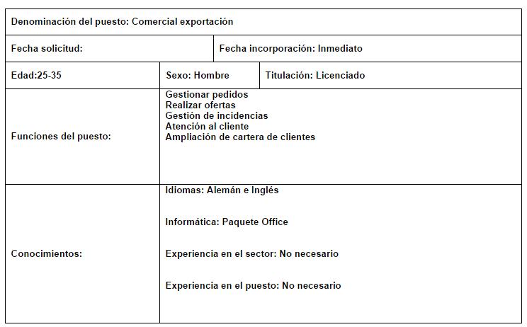 Comercial exportacion